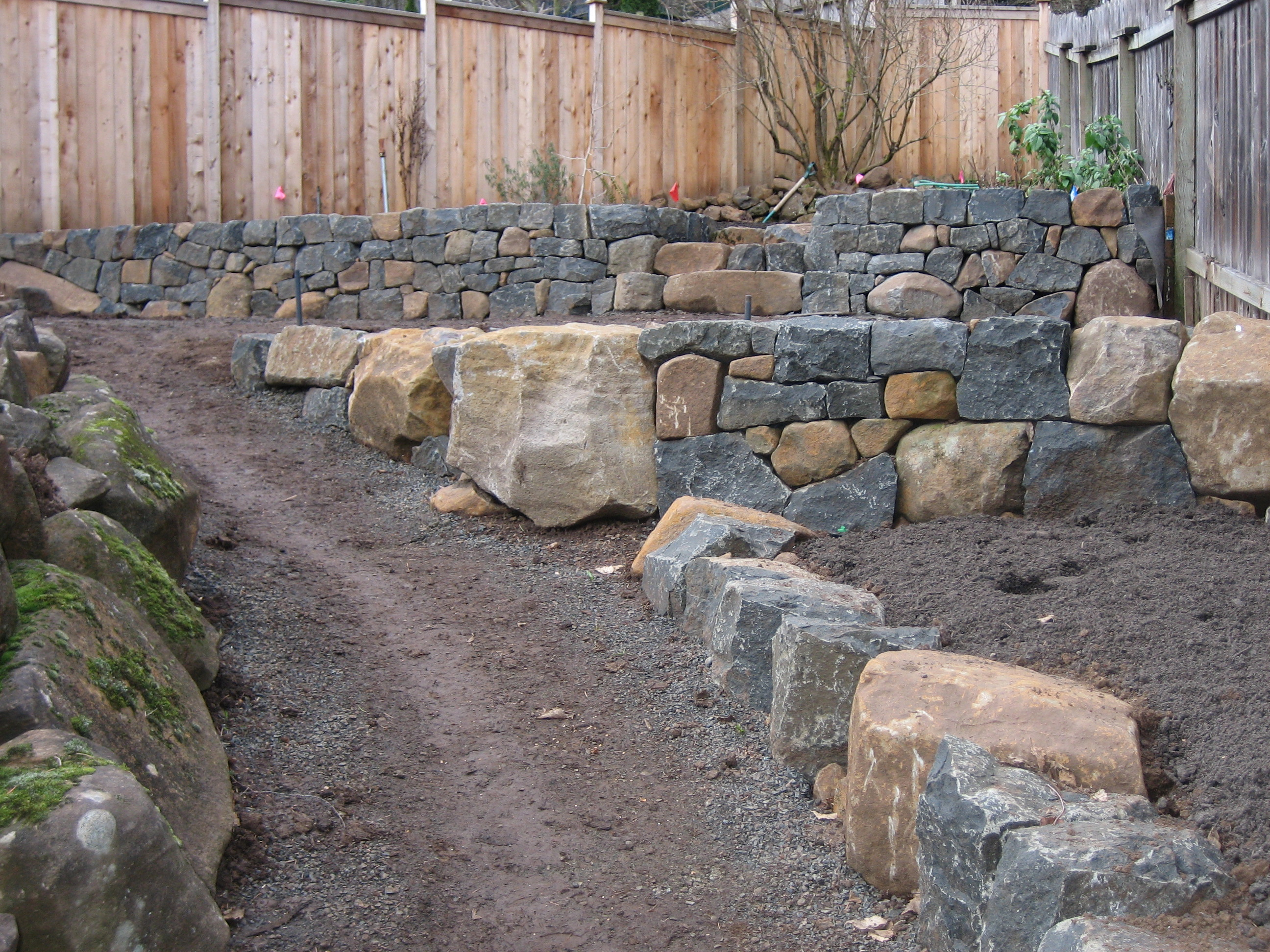 Basalt Rock Gardening : Whole gardens landscape design stonework